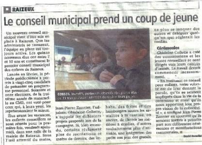 conseil municipal coup de jeune