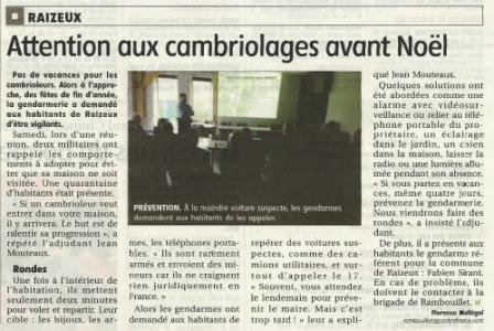 reunion gendarmerie nov 2014